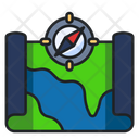 Map Global Map Compass Icon