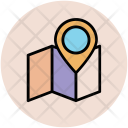 Map Unfolded Pin Icon