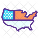 Map United States Icon