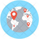 Map Location Globe Icon