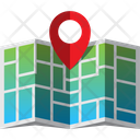 Map and Pin Icon