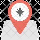Map Locator Cardinal Icon