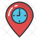 Map Marker with Clock Icon