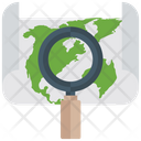 Map Monitoring Search Location Mapping Icon