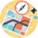 Navigation Route Compass Icon