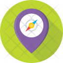 Map Pin Compass Icon