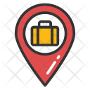 Map Pointer Suitcase Icon