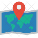 Map World Pin Icon