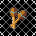 Maracas Rattle Rhythm Icon