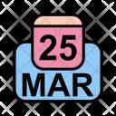 March Calendar Date Icon