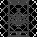 Marijuana Cannabis Phone Icon