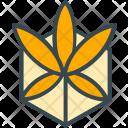 Marijuana Flower Leaf Icon