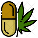 Medical Marijuana Capsule Icon
