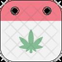 Date Cannabis Cannabidiol Icon