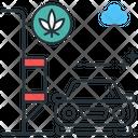 Marijuana Drive Through Drive Marijuana Icon