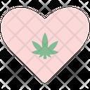 Heart Cannabis Cannabidiol Icon