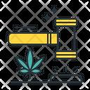 Marijuana Laws Legality Of Cannabis Drug Librelization Icon