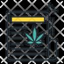Marijuana News News Paper Article Icon
