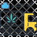 Marijuana Shipping Shipping Dispetch Icon