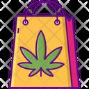 Marijuana Shopping Bag Icon