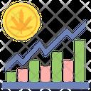Marijuana Stocks Chart Graph Icon