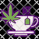 Marijuana Tea Tea Tea Bag Icon