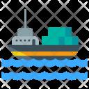 Marine Shipment Ship Icon