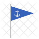 Marine Flag Anchor Icon