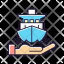 Marine Ship Insurance Icon