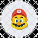 Mario Superhero Character Icon