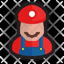 Mario Gamer Plumber Icon