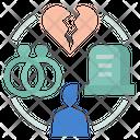 Marital Status Single Divorced Icon
