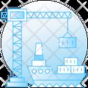 Cargo Ship Consignment Delivery Maritime Icon