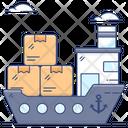 Maritime Shipment Cargo Ship Ship Logistics Icon