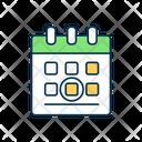 Calendar Date Celebration Icon