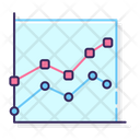 Marked Line Chart Stacked Marked Line Graph Line Chart Icon
