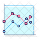 Marked Line Graph Marked Line Chart Graph Icon
