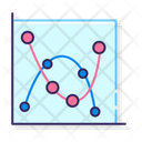 Marked Scatter Marked Scatter With Smooth Lines Scatter Icon