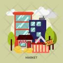 Market Store Concept Icon