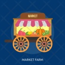 Market Farm Agriculture Icon