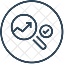 Seo Magnifier Graph Icon