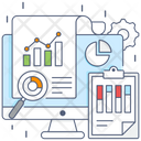 Piechart Report Growth Analysis Market Research Icon