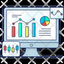 Online Analytics Market Analysis Online Graph Icon