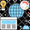 Market Analysis Flask Icon