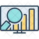 Market Analytics Review Financial Icon