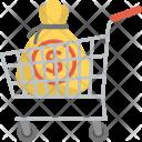 Market Cart Money Sack Icon