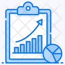 Market Data Growth Chart Data Analytics Icon