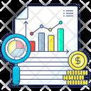 Marketing Report Market Data Financial Report Icon