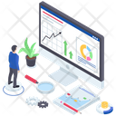 Market Research Infographic Statistics Icon
