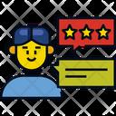 Market Review Feedback Customer Satisfaction Icon